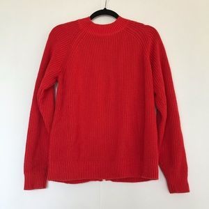 H&M | CHUNKY KNIT SWEATER WITH ZIPPER BACK